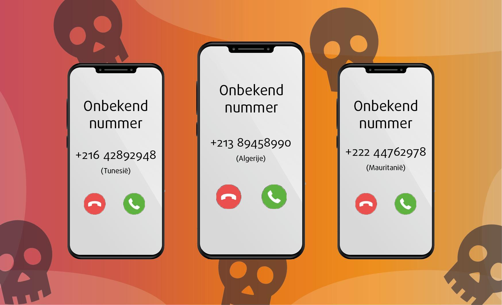 oplichting onbekende telefoonnnummers